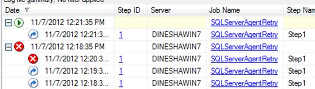 how to find failed jobs in sql server 2008
