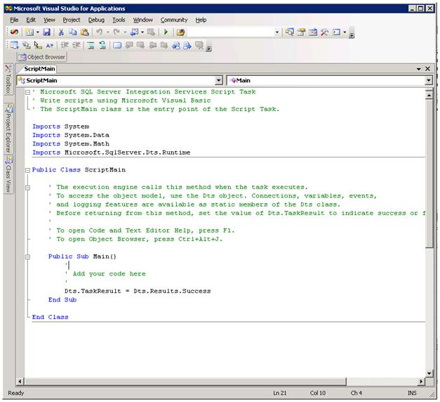 visual basic script software