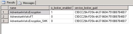 Service broker guid is identical to that of database